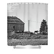 Ontario Farm 5 Bw Shower Curtain