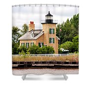 Ontonagon Lighthouse Shower Curtain