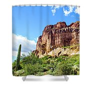 Onward And Upward At The Superstition Mountains Of Arizona Shower Curtain