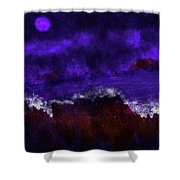 Oocean In The Moonlight  Shower Curtain