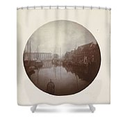 Oostersingel With Aangemeerde Ships In Leeuwarden, Anonymous, 1897 Shower Curtain