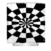 Op Art Shower Curtain by Methune Hively