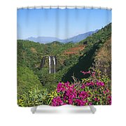 Opaekaa Falls Shower Curtain