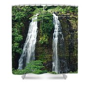 Opaekaa Waterfall Shower Curtain