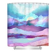 Opal Mountains Shower Curtain