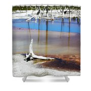 Opalescent Pool Yellowstone Np Shower Curtain