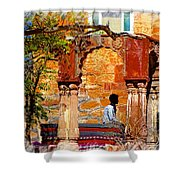 Open Air Bed Among The Arches India Rajasthan 1a Shower Curtain