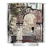 Open Air Bed Among The Arches India Rajasthan 1c Shower Curtain