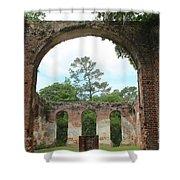 Open Air Church Shower Curtain