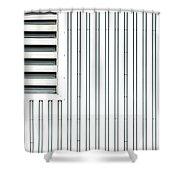 Open Air Grating Shower Curtain