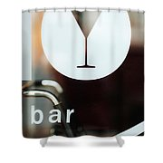 Open Bar Shower Curtain