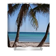 Open Beach View Shower Curtain