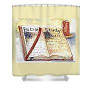 Open Bible Shower Curtain