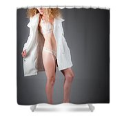 Open Coat Shower Curtain