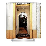 Open Doorway Shower Curtain