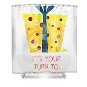 Open Gifts- Card Shower Curtain