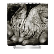 Two Old Hands Shower Curtain