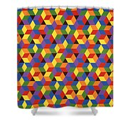Open Hexagonal Lattice I Shower Curtain
