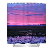 Open Marsh Shower Curtain