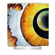 Open Mind. Door To Eternity Shower Curtain