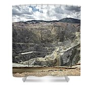 Open Pit Mine, Utah, United States Shower Curtain