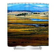 Open Range Shower Curtain by Carrie Putz