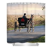 Open Road Open Buggy Shower Curtain by David Arment