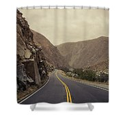 Open Road Through The Canyon Shower Curtain
