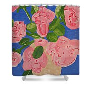 Open Roses I Shower Curtain