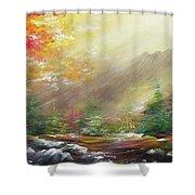 Open  Shower Curtain
