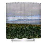 Open Vista. Lizard Point. Shower Curtain