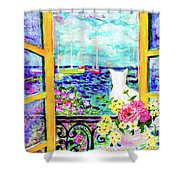 Open Window-colours Shower Curtain