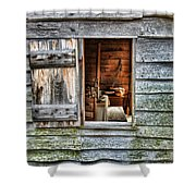 Open Window In Pioneer Home Shower Curtain by Jill Battaglia