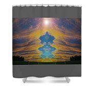 Opening Heavens Shower Curtain
