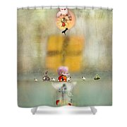Openings Shower Curtain