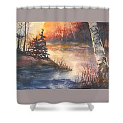 Opeongo Lake, Algonquin Provincial Park Shower Curtain