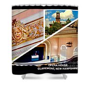 Opera House Diagonal Collage Shower Curtain