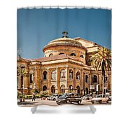 Teatro Massimo Vittorio Emanuele Shower Curtain
