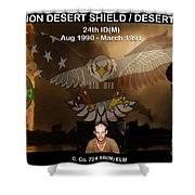 Operation Desert Shield/storm Shower Curtain