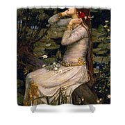 Ophelia Shower Curtain by John William Waterhouse