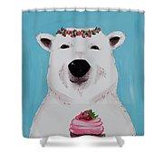 Ophelia The Polar Bear  Shower Curtain