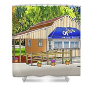Opie's Snowball Stand Shower Curtain