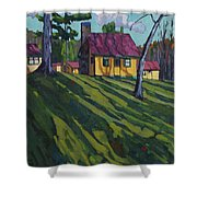 Opinicon Cottages In Autumn Shower Curtain