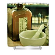 Opium Bottle In Apothecary Shower Curtain
