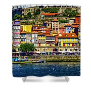 Oporto By The River Shower Curtain