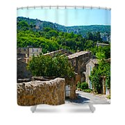 Oppede France - Street View Shower Curtain