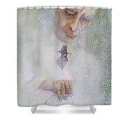 Oppenheimer Makes A Manhattan  Shower Curtain
