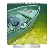 Opportunity-the Great Blue Heron Shower Curtain