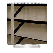 Opposition Push And Pull Shower Curtain