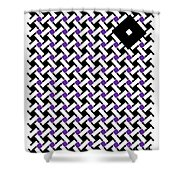 Optical Illusion Purple Black Flag 4. Shower Curtain